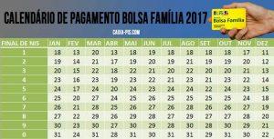 valor do bolsa família calendario 2017