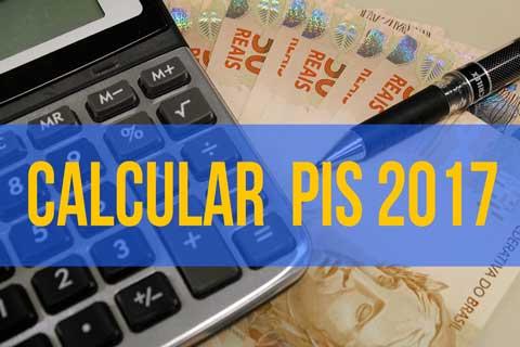 como calcular o valor do PIS 2017