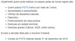 Saque de FGTS inativo