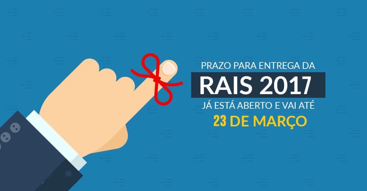 entrega da RAIS ano base 2017