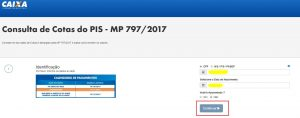Consulta de Cotas do PIS - MP 797/2017