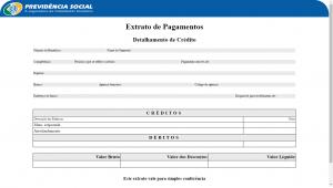 extrato INSS dataprev