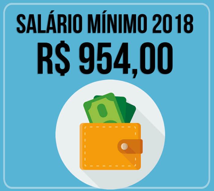 preço atual do salário mínimo 2018